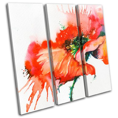 Poppy Watercolour Red Floral - 13-0132(00B)-TR11-LO
